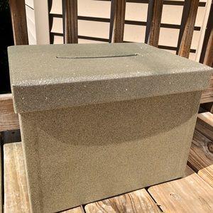 ✨Gold Glitter Card Box